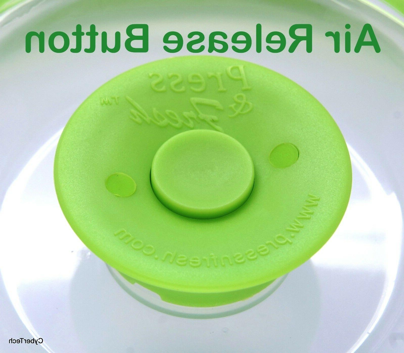 Stackable Food Sealer Container Plate Lid Cover