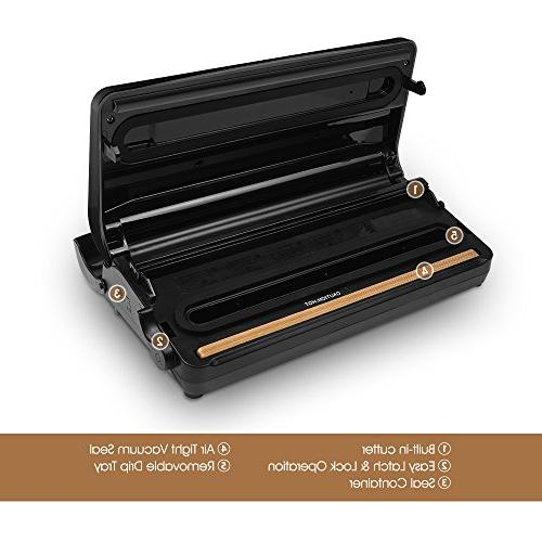 Mooka TVS-2150 Sealer 2 IN Vacuum Sealer with Upgrade 10 | Tray Moist | Up To 40 Seals