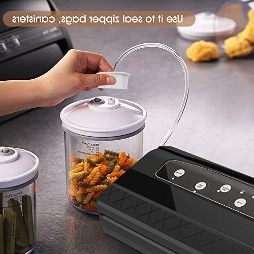 Mooka TVS-2150 Vacuum 2 1 Sealer with Upgrade Cutter, 10 Sealing Bags - | Roll Tray Moist Modes | Up Consecutive Seals