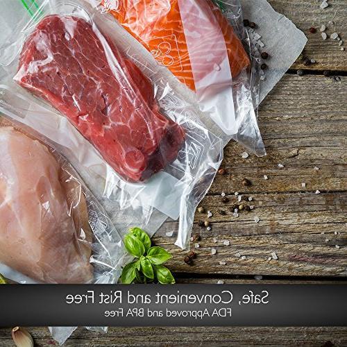 NutriChef Vacuum 2 Pack Grade Rolls, Size For NutriChef, Foodsaver, Other Brands.