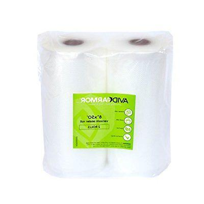 two 8 x50 vacuum sealer bags rolls