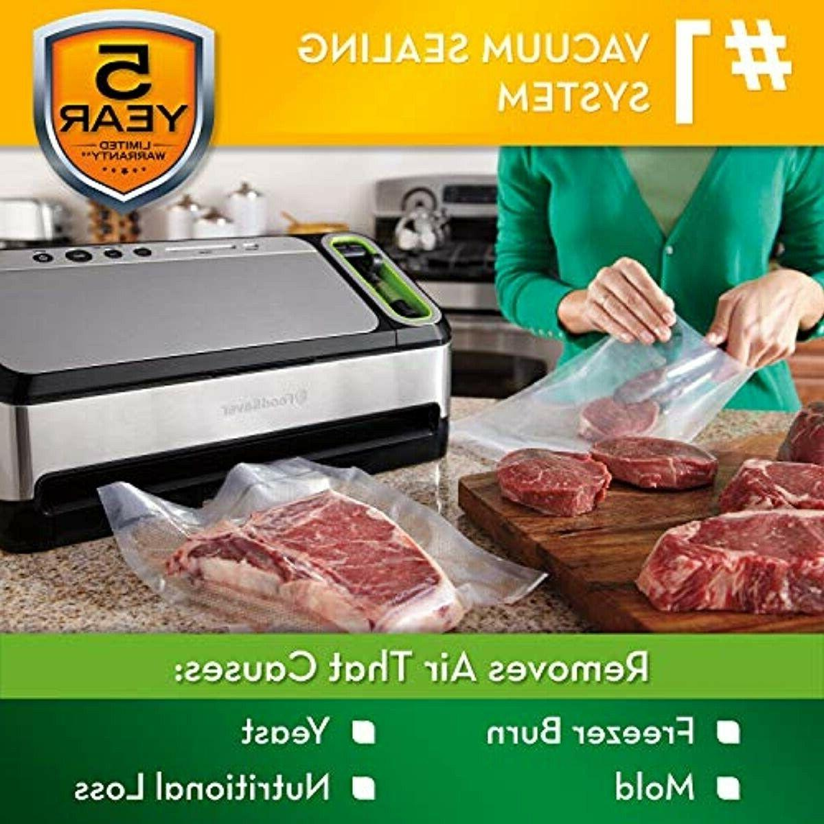 FoodSaver V4840 2-in-1 Vacuum Sealer Automatic Bag Detection
