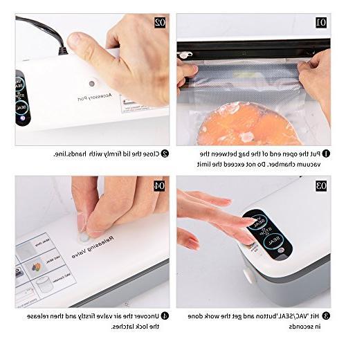 Crenova Sealer Food + 10 pcs Vacuum Bags