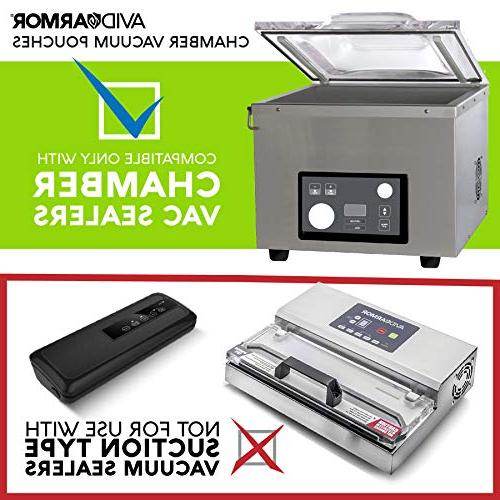 """10"""" x of Pre-Cut Duty Commercial BPA Approved Sous Vide Safe for Vacuum"""