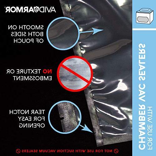 """Vacuum Chamber 12"""" x 14"""" Pack of 250 Heavy Pre-Cut BPA Free Approved Vide FOODSAVER TYPE VACUUM SEALERS"""