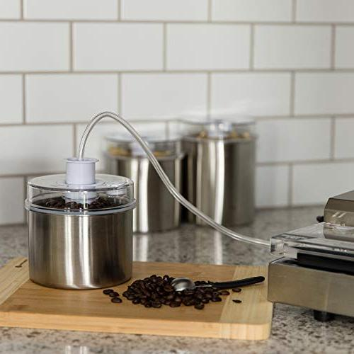 Storage with See-Thru with Indicator Universal Attachment Keeps Fresh Coffee, Pasta,