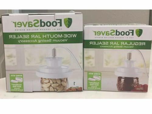 vacuum jar sealer set regular and wide