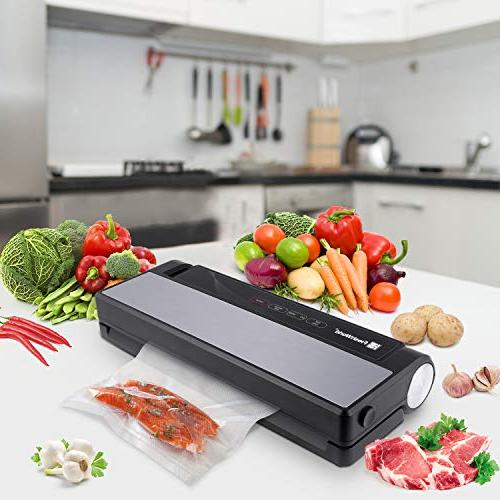 Vacuum World 4 Automatic Stainless Steel Sealer with Cutter For Dry & Moist Food, Preservation