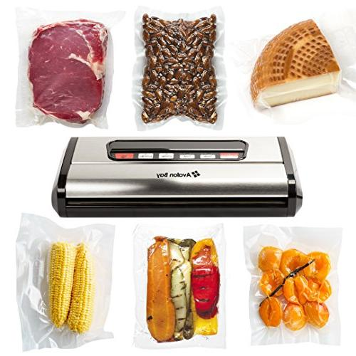 Avalon Sealer, Automatic Vacuum Sealing System Bag Dry Moist Stainless Steel,