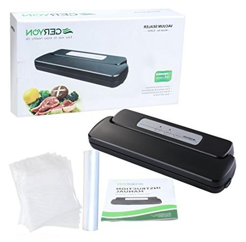 GERYON Vacuum Sealer, Food Starter & for Food Savers and Sous