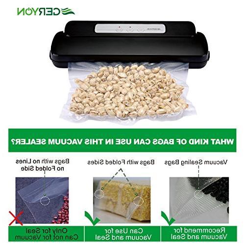 GERYON Vacuum Food Machine Starter & for Food Sous