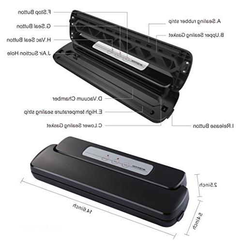 GERYON Vacuum Sealer, Automatic Food with Starter for Food Savers and Sous Vide,