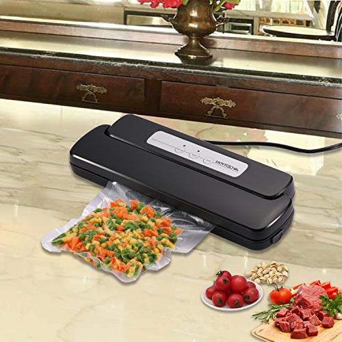 GERYON Vacuum Food Sealer Starter Bags Sous Vide, Black