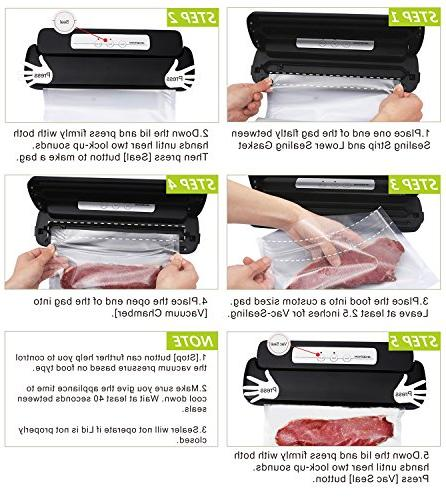 GERYON Food Sealer Machine Starter Roll for Savers and Sous