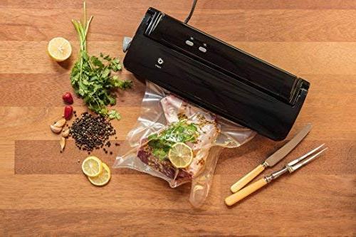 Nutri-Lock Sealer Bags. 100 Bags Sealer Bags for FoodSaver, Sous