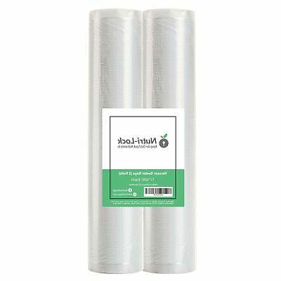 vacuum sealer bags 2 rolls 11 x20