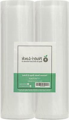 Vacuum Sealer Bags 2 Rolls 11x50 Commercial Grade Food Saver