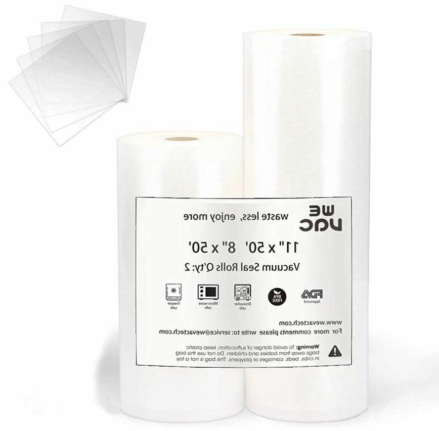 vacuum sealer bags 8x50 and 11x50 rolls