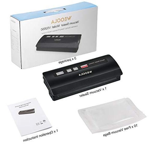 Vacuum Sealer Vacuum Sealing for Food Vide,Clothes and Mason Jar | options | | Led Lights |