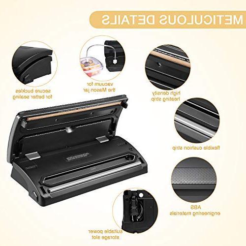 Vacuum Sealer/Food Sealer Vacuum for Food Vide,Clothes and Mason | 3 options | 4 Modes | Lights | 10