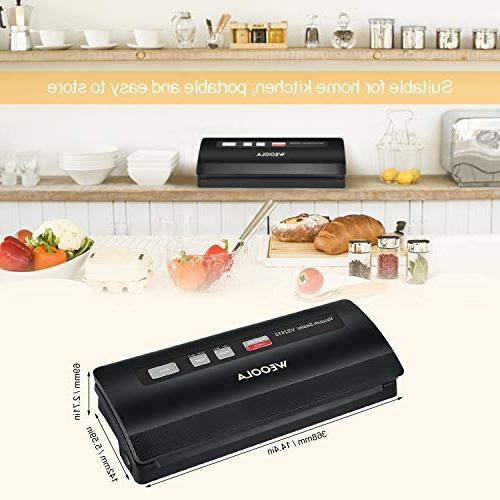 Vacuum Sealer/Food Machine,Automatic for Food Preservation, Sous Vide,Clothes and | options | 4 Modes | Led | 10 Bags