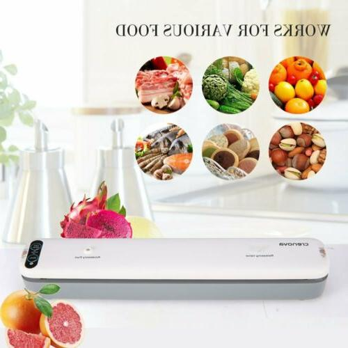 Crenova Vacuum Sealer Machine Food Meat Leftover Save Fresh