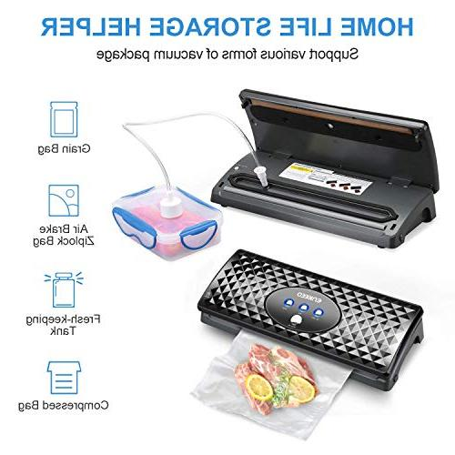 ENKEEO Vacuum Sealer System for Food Bottle Wine Suction Starter Kit