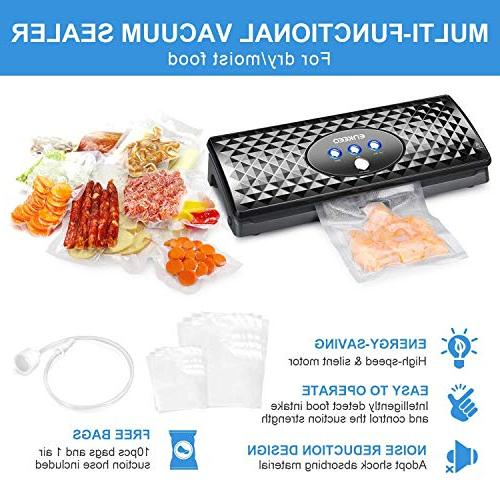 ENKEEO Vacuum 2-in-1 Automatic Sealing Packing System for Food Wine Suction and Kit