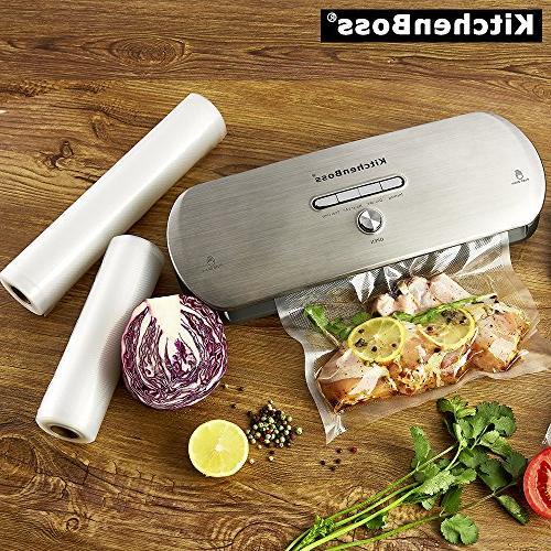 KitchenBoss for Moist Foods Preservation Sealing System, Indicator Lights,with Starter Inclued
