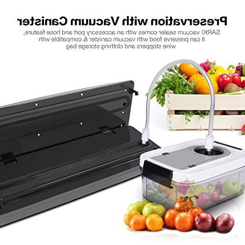 Automatic Touch Screen, Food Sealer Vacuum System Starter Bags & Roll Suction Food Modes