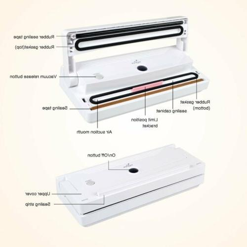Vacuum Sealer Automatic Sealing System Food Preservation
