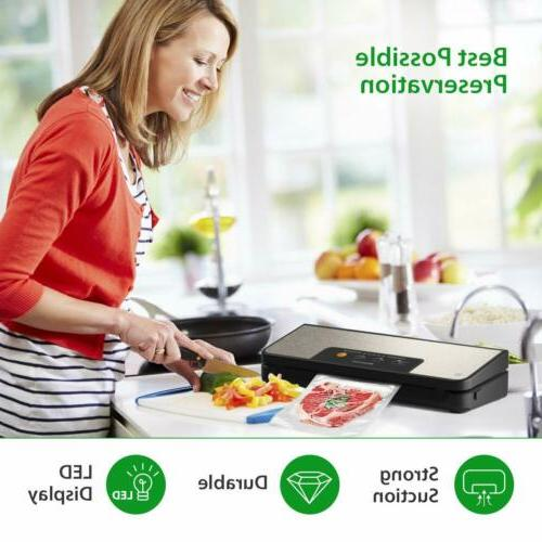 80Kpa Vacuum Sealer Automatic Food Sealer Cutter
