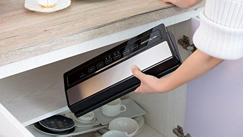 GERYON Vacuum Sealer Food Indicator to Clean|Dry & Moist Food Compact