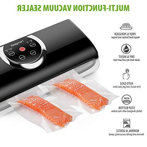 Homgeek Vacuum Machine, Food Vacuum 4 Vacuum w/Starter Kit | | Dry & Food Modes | & Gentle