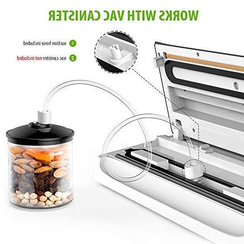 Homgeek Machine, Food Vacuum 4 in 1 Vacuum Sealing w/Starter Kit Cutter | Dry & Moist Food | Normal &