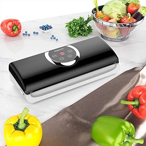 Homgeek Sealer Food Sealer 4 in Vacuum w/Starter Kit | | & Food Modes | Normal &