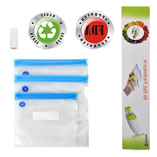 vacuum zipper bags food storage