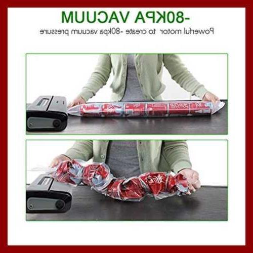 Crenova VS100S Vacuum Sealer Food 1 Roll 10 Pcs Bags