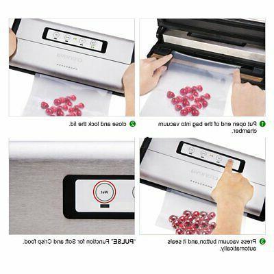 Crenova Food Sealer Saver Machine + 1 Vacuum + 10 pc..