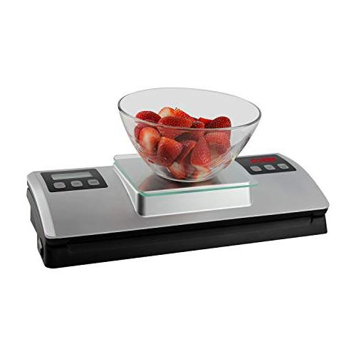Nesco Vacuum Sealer Digital Scale and Kit, Silver