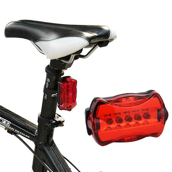 Waterproof 5 Bike Head Light+Rear Flashlight 2 Set