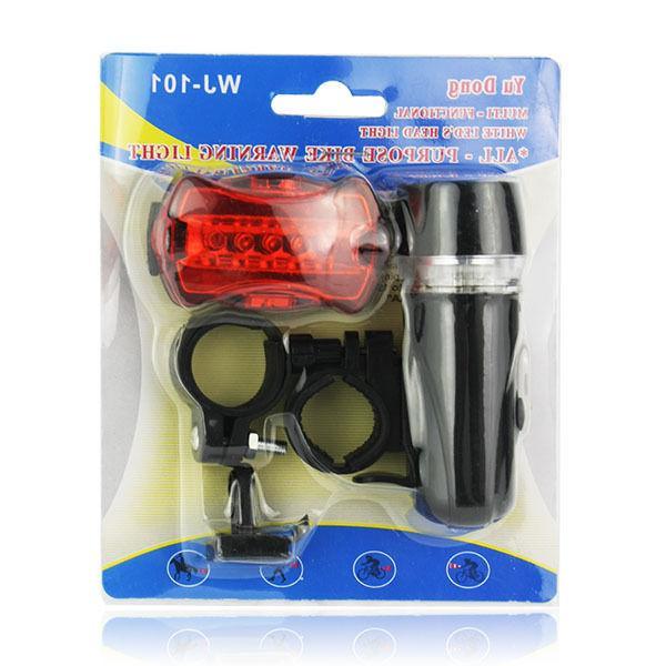 Waterproof LED Lamp Bike Bicycle Front Head Light+Rear Flashlight 2 Set