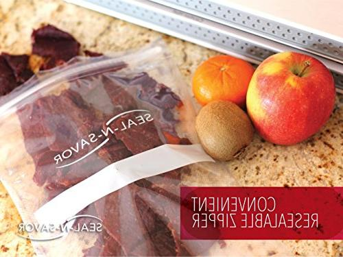 Precut Vacuum Seal Bags with BPA-Free Multilayer Construction Food Preservation, 30 Count