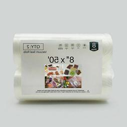 "New Food Vacuum Sealer Bag Rolls 8""x50' 11""x50' FDA approved"