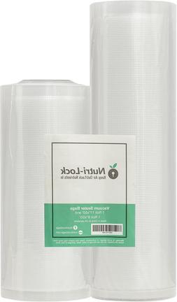 Nutri-Lock Vacuum Sealer Bags. 2 Rolls 11x50 and 8x50. Comme