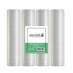 "Nutri-Lock Vacuum Sealer Bags. 4 Rolls 8""x25' Commercial Gra"