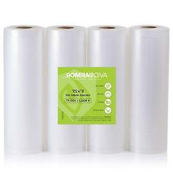 "Pack of 3 Vacuum Sealer Bags Rolls 8"" x 20 for Food Saver &"