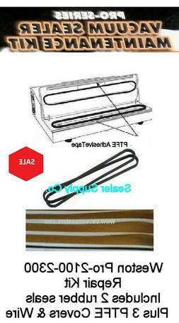 Weston Pro 2300 Vacuum Sealer Kit Seals Teflons + wire also