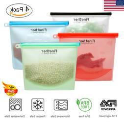 Reusable Seal Silicone Fridge Food Fresh Bag Vacuum Sealer Z