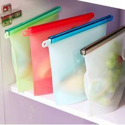 Reusable Vacuum Food Sealer Silicone Storage Bag Container K